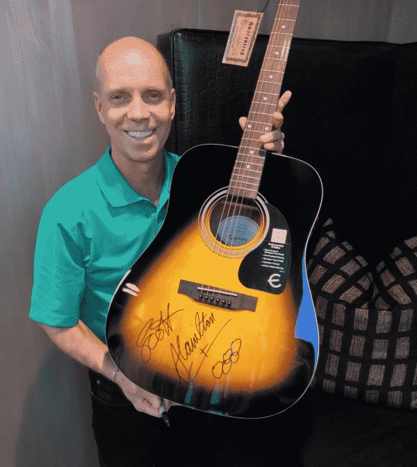 Scott Hamilton Guitar Signing