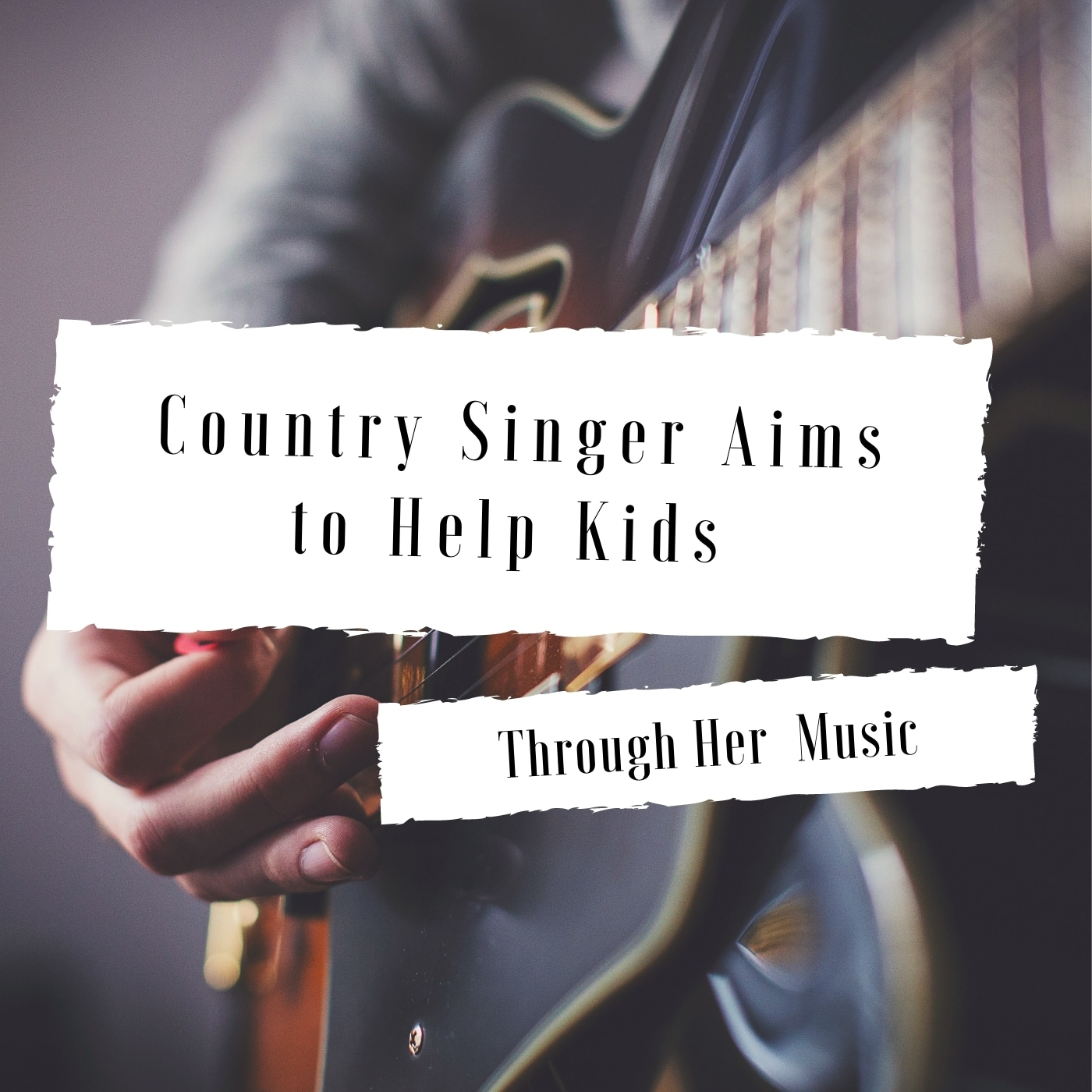 Country singer aims to help kids through her music