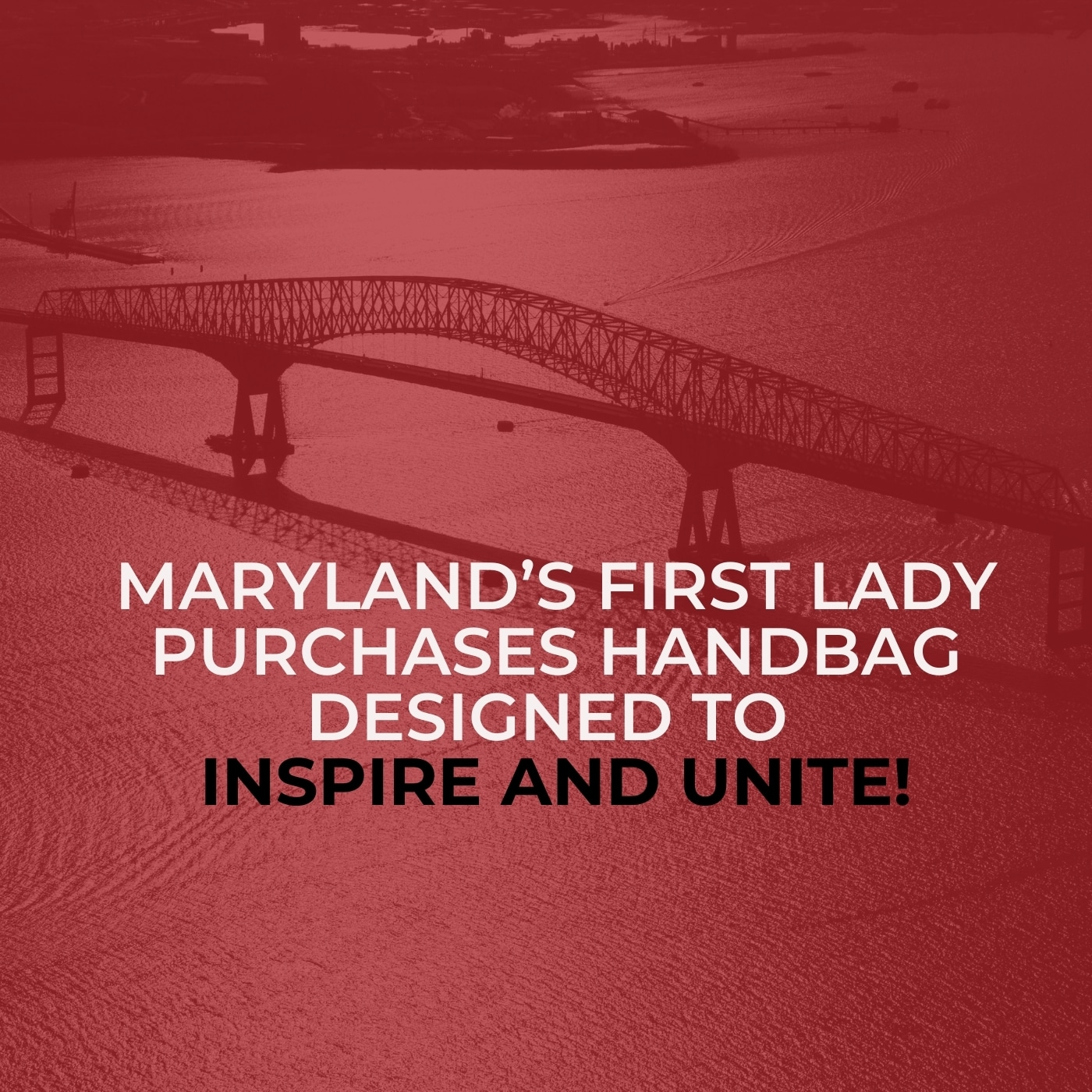 Maryland's First Lady Purchases Handbag Designed to Inspire and Unite!