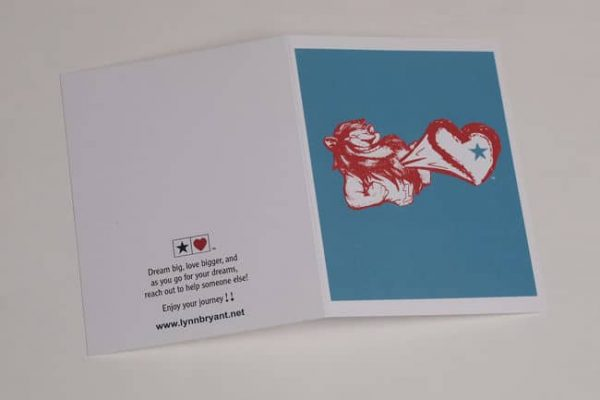 Star Heart Lion-Heart Greeting Card