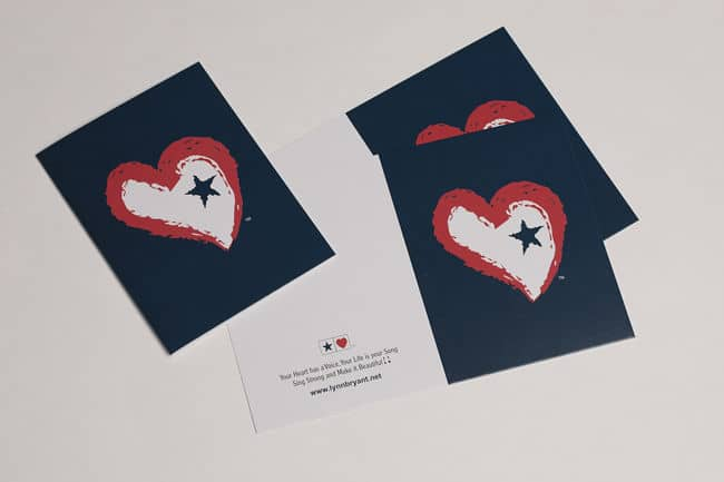 Star Heart Notecards