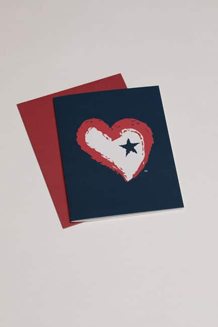 Star Heart Greeting Card