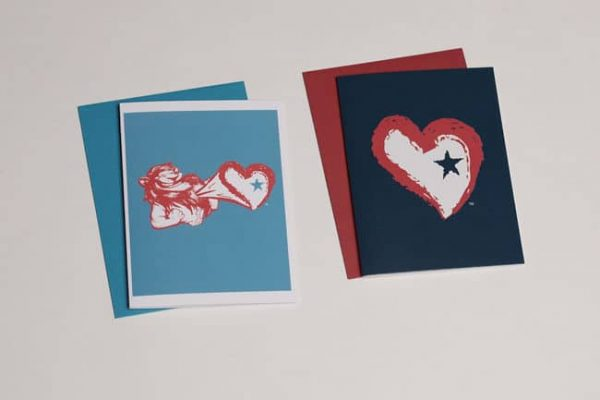 Star Heart Greeting Cards