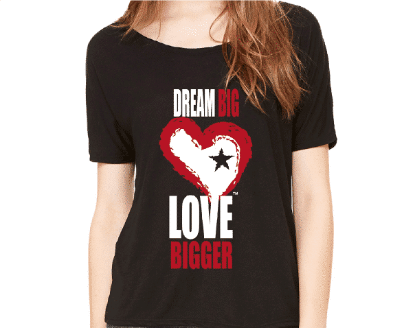 Star Heart Dream Big Love Bigger Branded T Shirt