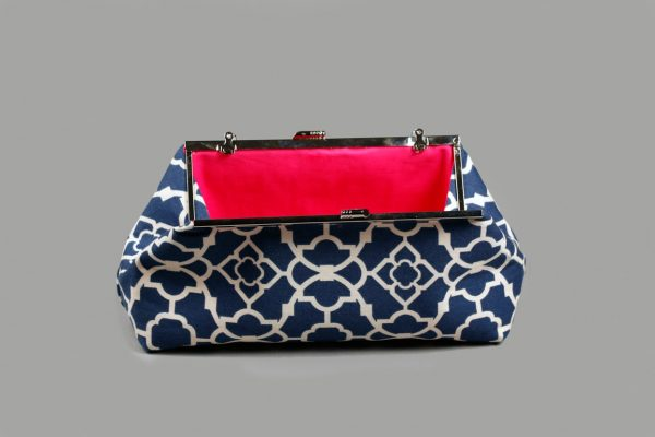 Faith Hope Dreams Clutch with Contrasting Lining