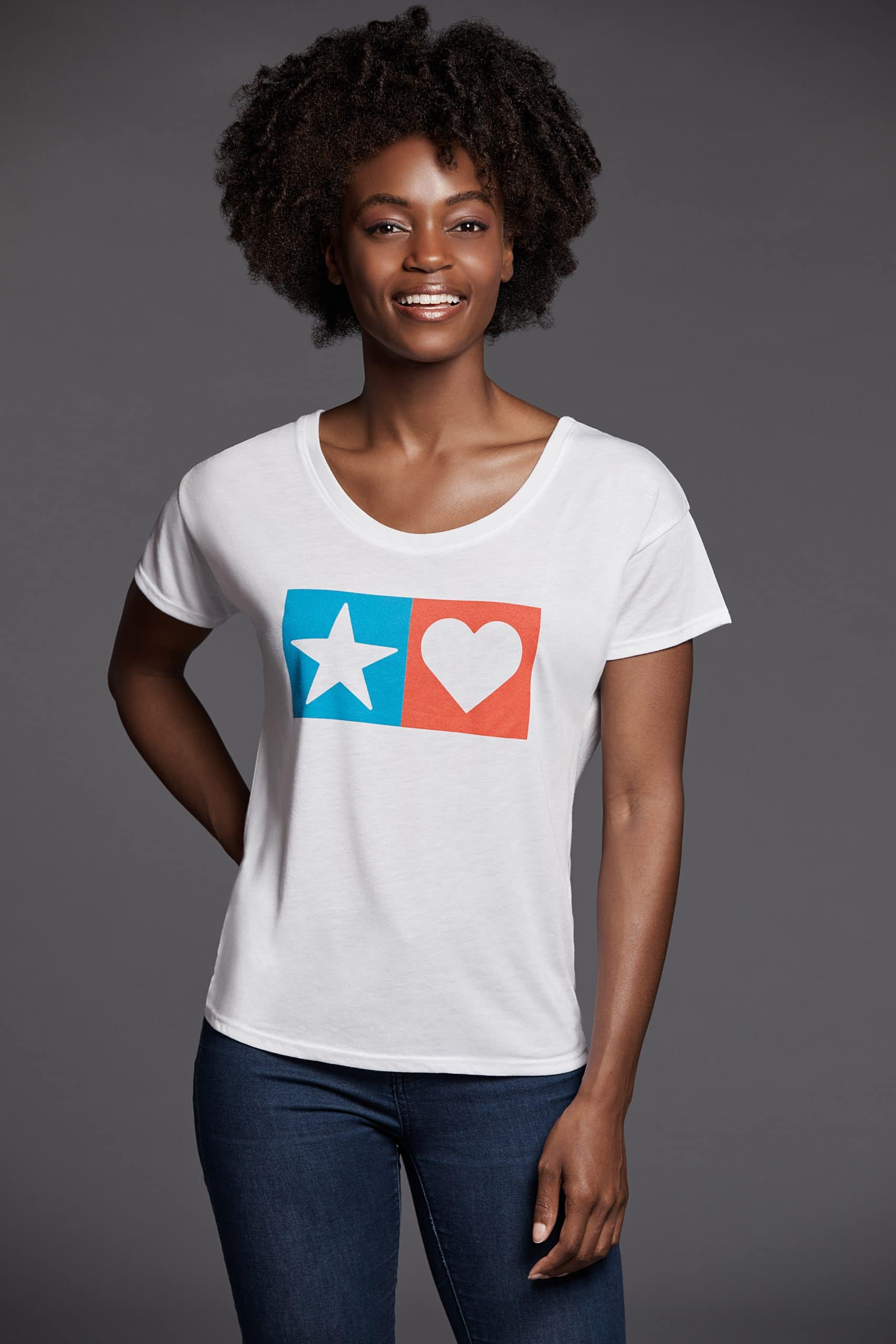 Women's Star Heart Boxy Tee