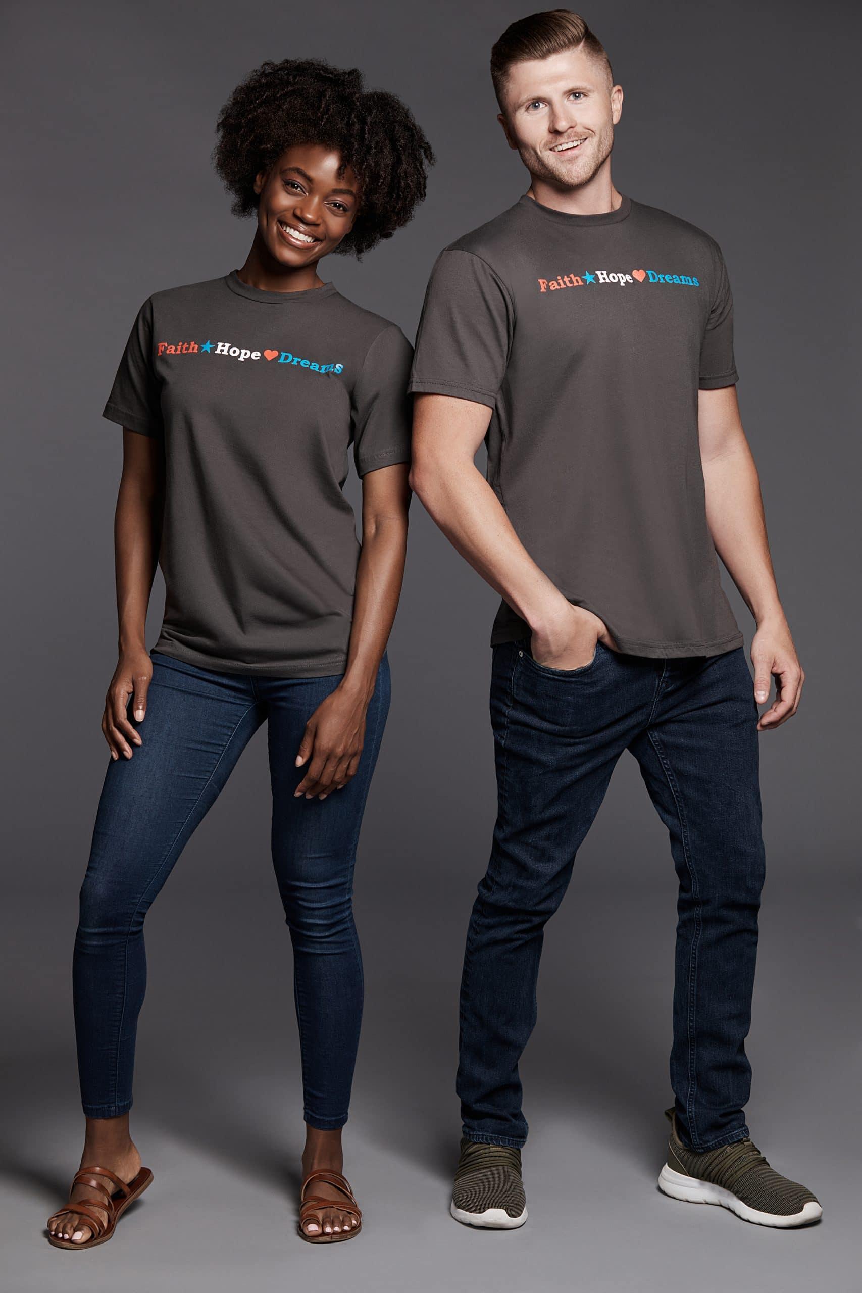 Unisex Faith Hope Dreams Slate Tee Shirt