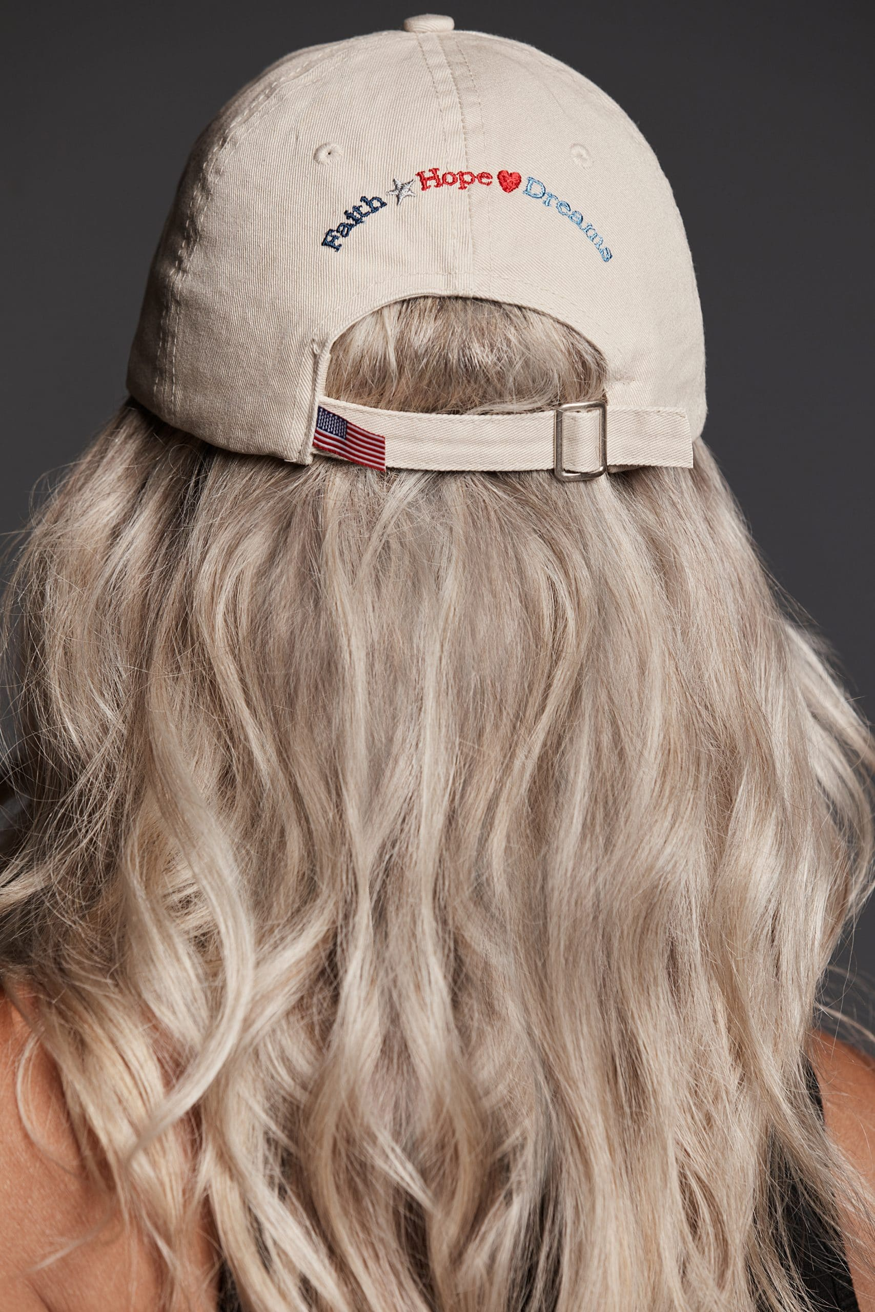 Star Heart Faith Hope Dreams Embroidered Baseball Cap