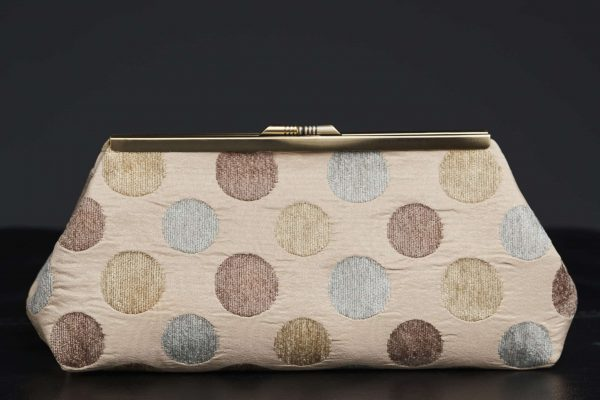 Faith Hope Dreams Charleston Clutch in Tan with Clasp