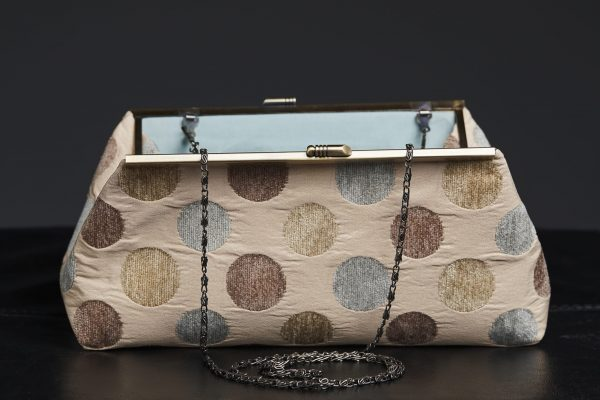 Faith Hope Dreams Clutch in Tan with Chain