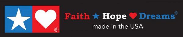 Faith Hope Dreams Logo on Black Background